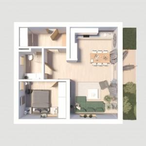 Wizualizacja-apartament-Panorama-nieka